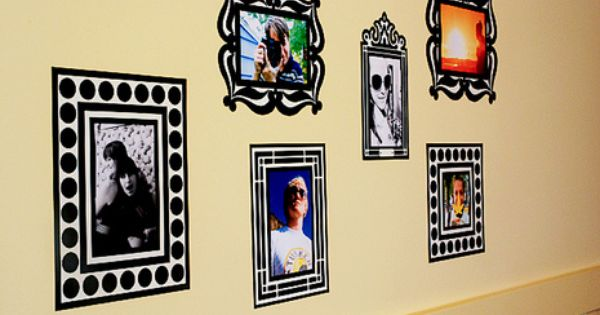 Re Stickable Decal Photo Frames Frame Hand Painted Frames Wall
