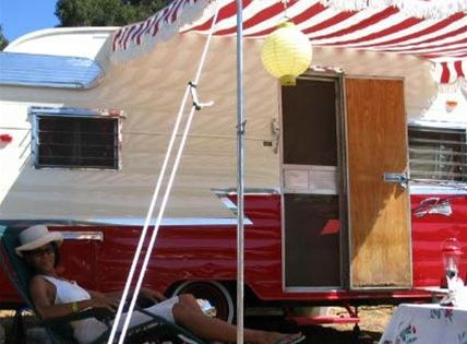 Classic Pole Amp Rope Awning Vintage Campers Pinterest