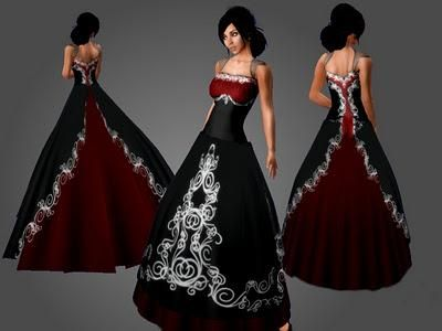 Red And Black Gothic Wedding Dresses Black Wedding Dresses