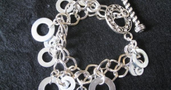 Do It Yourself Jewelry: Do It Yourself Bracelet Made Out Of Washers! How Lovely Is