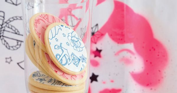 Tattoo Biscuits  Cakes &amp Bakes Pinterest Love Desserts And