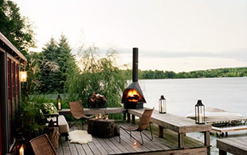 love the furniture and fire pit on the deck