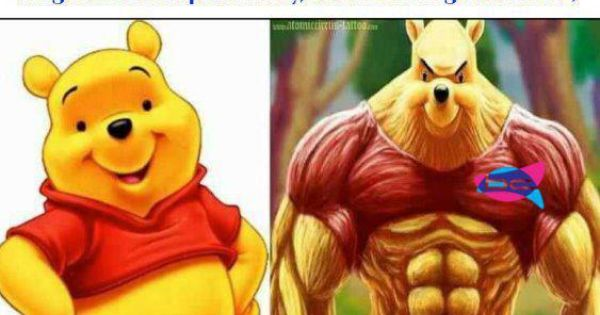 Winnie the Muscle Pooh | funny | Pinterest | Humor