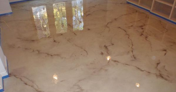 Cleveland Oh Epoxy Marble Look Basement Pinterest