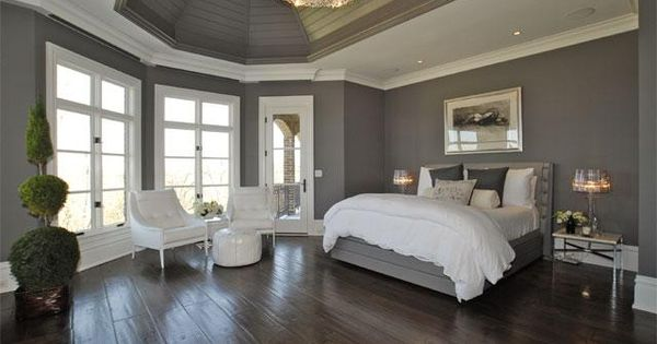 Bedroom Inspiration. Gray Bedroom Paint Color Decorating Ideas Feat Master Bed Designs: