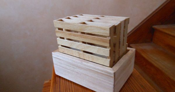 Popsicle Stick Pallet Coasters Box Is Made From Popsicle