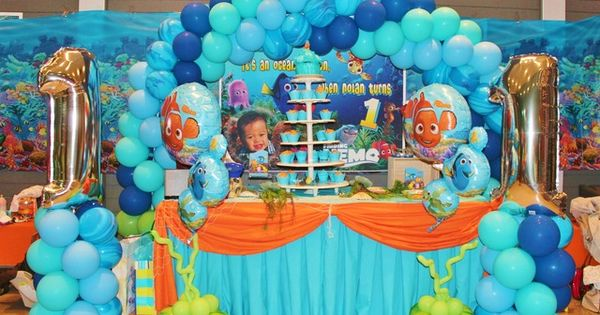 finding nemo balloon decorations | Finding Nemo theme / Birthday / Featured