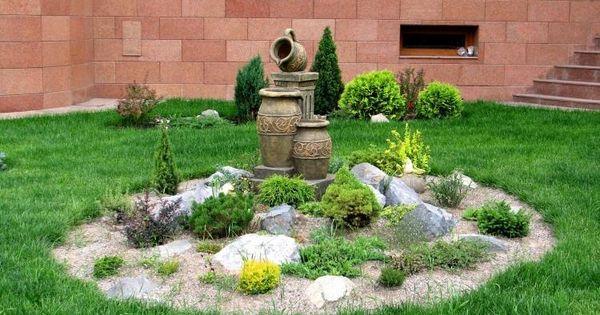 steingarten gestalten akzent kies zwerg pflanzen garten pinterest design. Black Bedroom Furniture Sets. Home Design Ideas