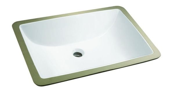 Glacier Bay Rectangle Undermount Bathroom Sink In White 14