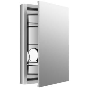Kohler Verdera 20 In W X 30 In H Recessed Medicine Cabinet In Anodized Aluminum K 99003 Na The Home Depot Recessed Medicine Cabinet Mirror Cabinets Magnifying Mirror