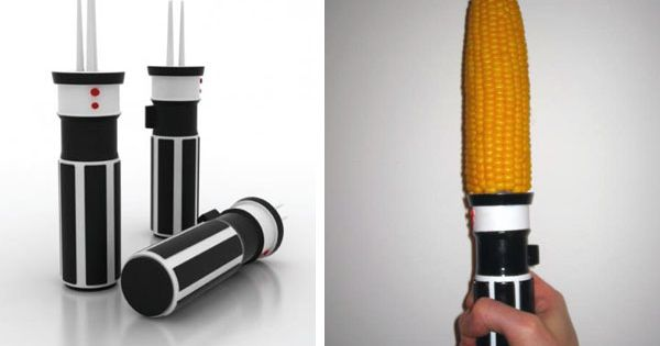 Star Wars Lightsaber Corn Holders @Brittanyvawser Andy needs these!