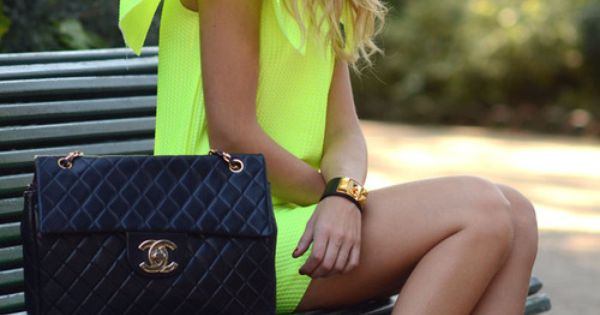 Chartreuse and Chanel on Chiara Ferragni