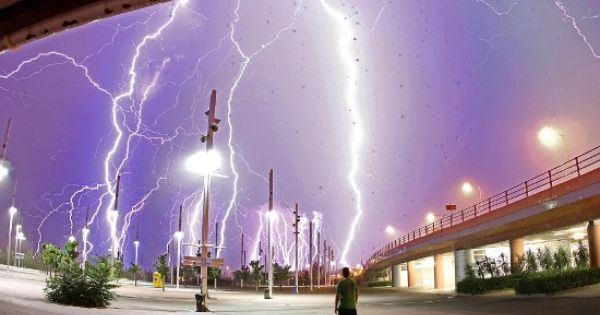 Sixth of series of photos about lightning and incredible weather.