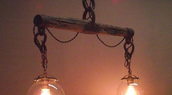 Handmade Horse Yoke Hanging Light Horse Hanging Lights