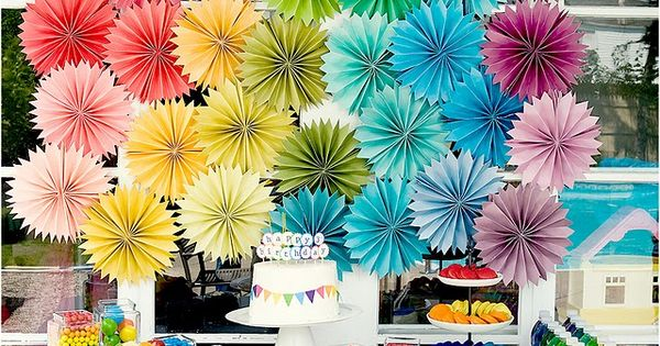 Paper Rosette Party Decorations [DIY Party Decorations] ~ Be Different...Act Normal