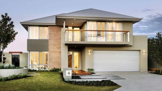 Techo a 4 aguas con tejado curvo y amplio balc n en el - Tejados de casas modernas ...
