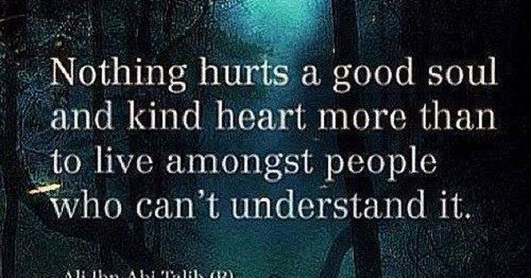 Soul Quotes To Live By: Nothing Hurts A Good Soul And A Kind Heart More Than To