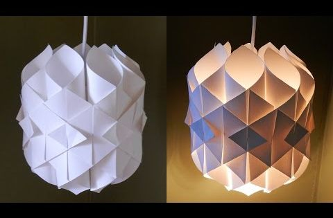 diy origami lampe youtube lampe pinterest lampenschirme diy lampe und lampen. Black Bedroom Furniture Sets. Home Design Ideas