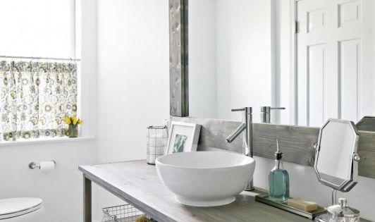 Salle de bains, Rustique and Style rustique on Pinterest