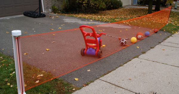 Keep kids safe outdoors kidkusion retractable driveway