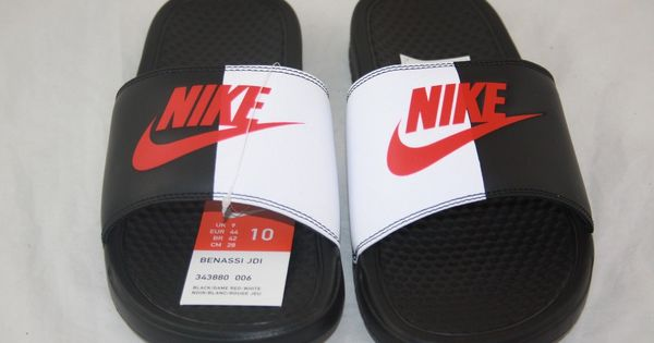nike slides mens red and gold