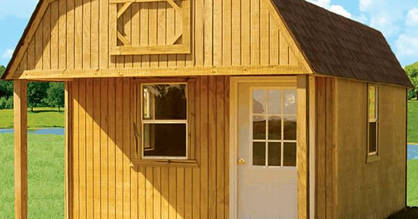 Derksen Portable Treated Lofted Barn Cabin with porch ...