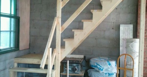 Simple Stairs To A Garage Attic For The Home Pinterest