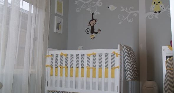 A mix of all my favorite nursery ideas - yellow & grey