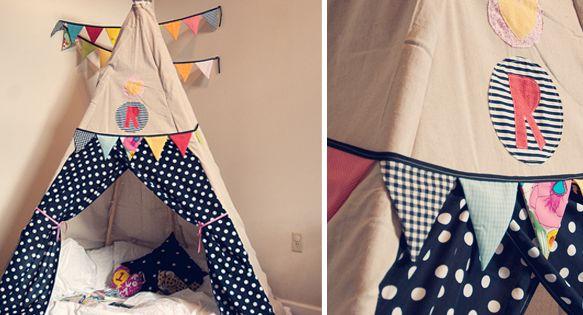 comment fabriquer un tipi chambre pour enfant petite cabane et de la salle. Black Bedroom Furniture Sets. Home Design Ideas