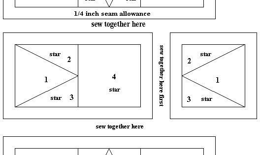 4 Inch Star Foundation Piecing Pattern Free Paper Quilt