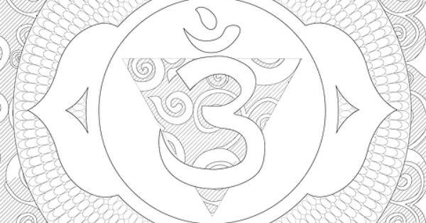 Third Eye Chakra Coloring Page Chakras Pinterest