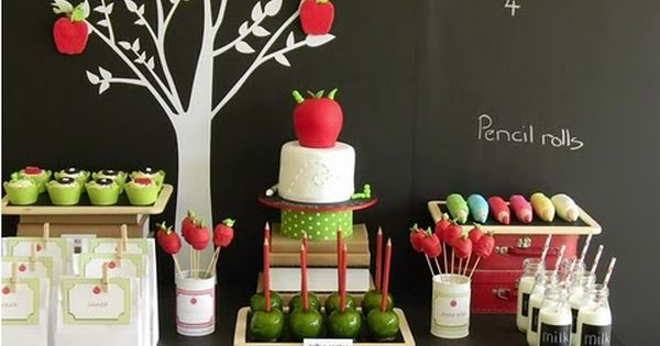 Back to School party ideas from Bird's Party Blog