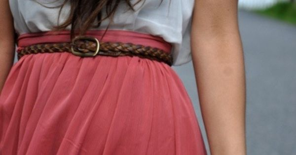 Colorful skirt with belt, to cute! | Fashion, Summer clothes