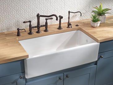 36 Shaws Original Lancaster Fireclay Kitchen Sink Single Bowl