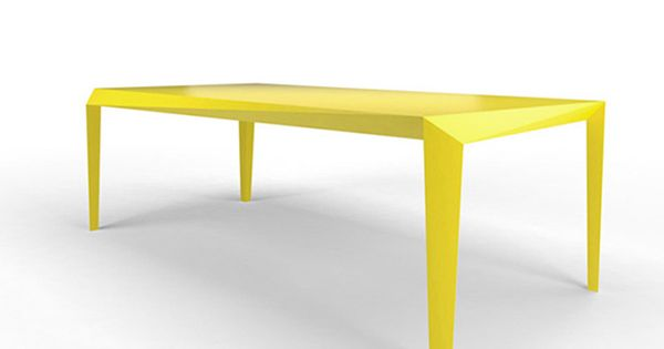 Energy Shot: Dynamic And Minimal Yellow Table By Reinier De Jong | Design |  Pinterest | Yellow Table, Minimal And Plywood