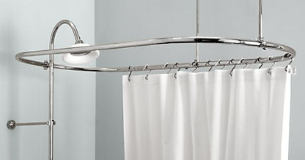 Vintage Restoration Hardware Shower Curtain Rods Modern