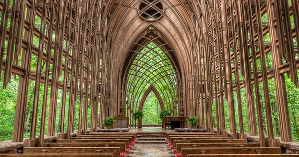 Eureka springs, Arkansas - Glass Chapel in the Woods - Beautiful. The