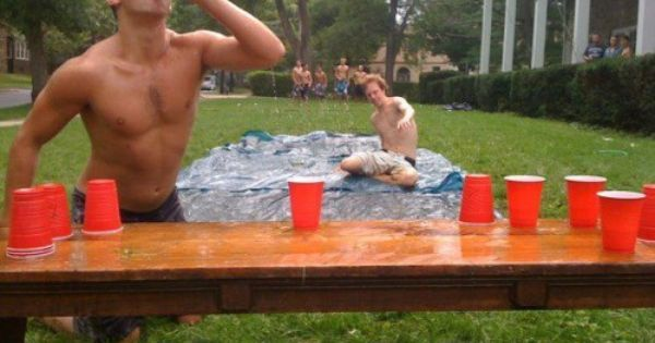 """slip cup."" run, slip, chug, & flip. I wanna play. Awesome summer"