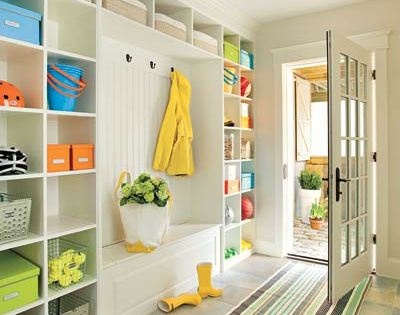 Mud Room Ideas | Laundry room/mud room perhaps. lots of shelves, I