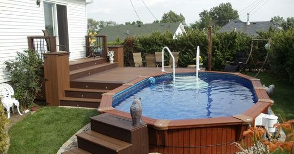 Patio plus above ground pools decks decked out pools - Above ground pool deck ideas on a budget ...