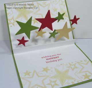 Pun Fun Pop Up Stars Plus Video Pop Up Cards Acetate Cards Card Craft