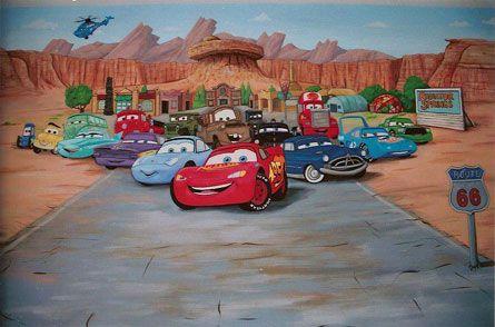 Disney Cars Wallpaper Free Cars Wall Mural Cars Mural Mural Disney Cars Wallpaper