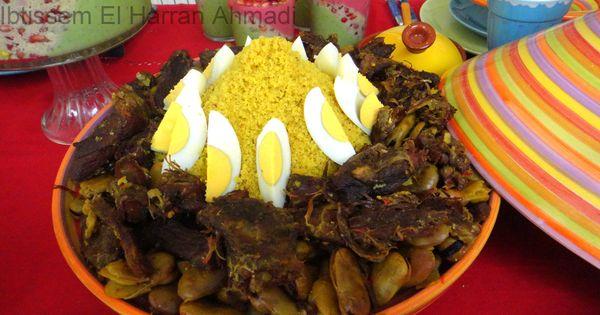 Couscous la viande s ch e et aux f ves cuisine for Cuisine tunisienne