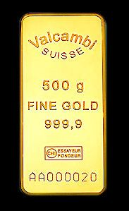Valcambi Gold Bar Minted 500g 999 9 Fine Actual Size 90 00 X 40 00 X 7 85mm Http Www Coinandbullionpages Com Go Gold Bullion Bars Gold Bullion Gold Bar
