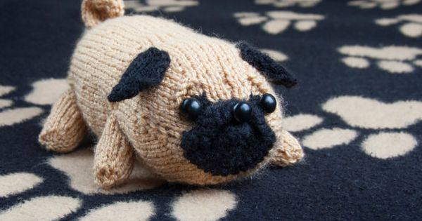 Jolly The Pug PDF Toy Dog Amigurumi DK Knitting by sincerelylouise Pug Love...