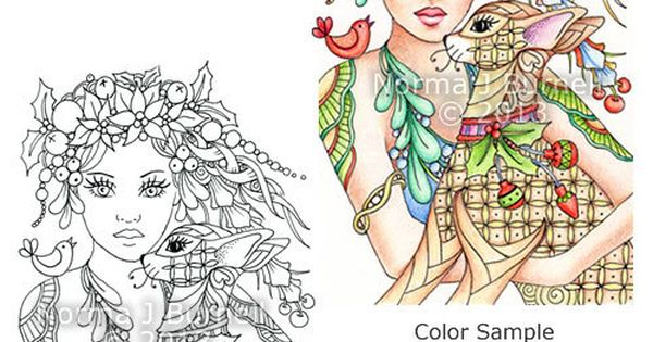 8x10 Fairy-Tangles™ Coloring Sheet By