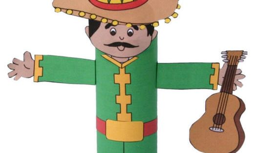 Dltk 39 s crafts for kids mariachi toilet paper roll craft for Dltk crafts for kids