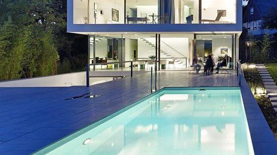 architektenh user puristische villa in hanglage darmstadt villas and architecture. Black Bedroom Furniture Sets. Home Design Ideas