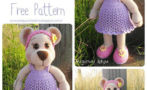 Ravelry: Amigurumi Miss Bear pattern by Amigurumi Askina ...