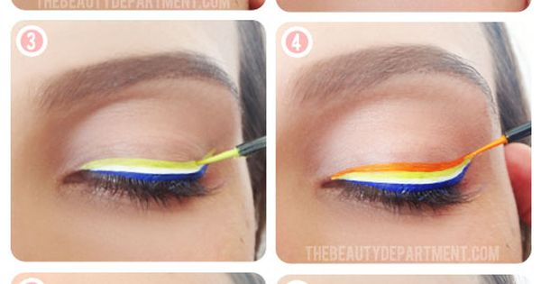 The Beauty Department Rainbow Liner: use Lime Crime matte liquid liners or